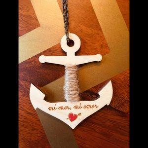 Statement Piece Wooden Anchor Necklace